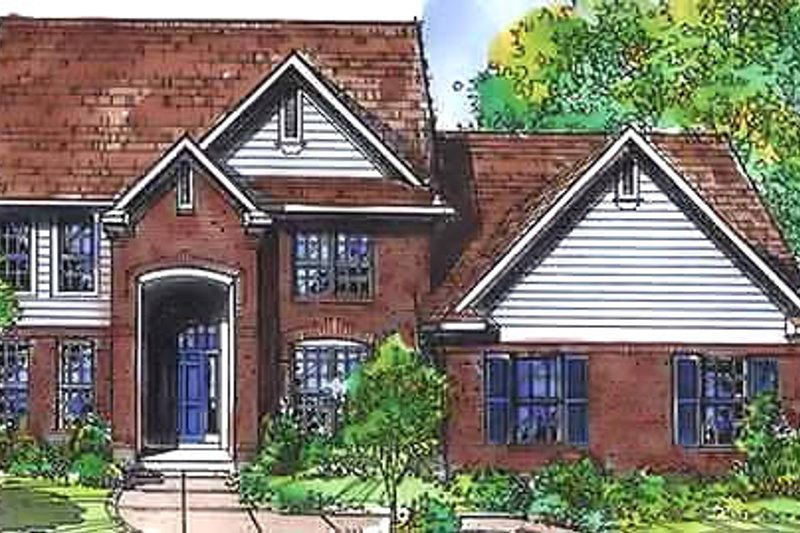Dream House Plan - Colonial Exterior - Front Elevation Plan #320-448