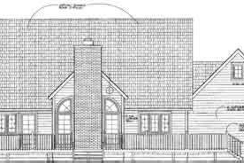 Traditional Exterior - Rear Elevation Plan #72-470 - Houseplans.com