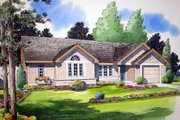 Country Style House Plan - 3 Beds 2 Baths 988 Sq/Ft Plan #312-541 Exterior - Front Elevation