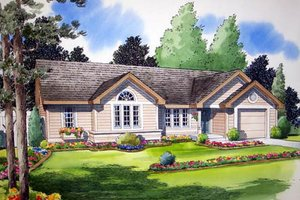 Country Exterior - Front Elevation Plan #312-541