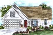 European Style House Plan - 2 Beds 2 Baths 1692 Sq/Ft Plan #20-1607 Exterior - Front Elevation