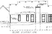 Colonial Style House Plan - 2 Beds 2 Baths 1768 Sq/Ft Plan #20-105 Exterior - Rear Elevation
