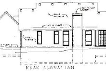 Colonial Exterior - Rear Elevation Plan #20-105