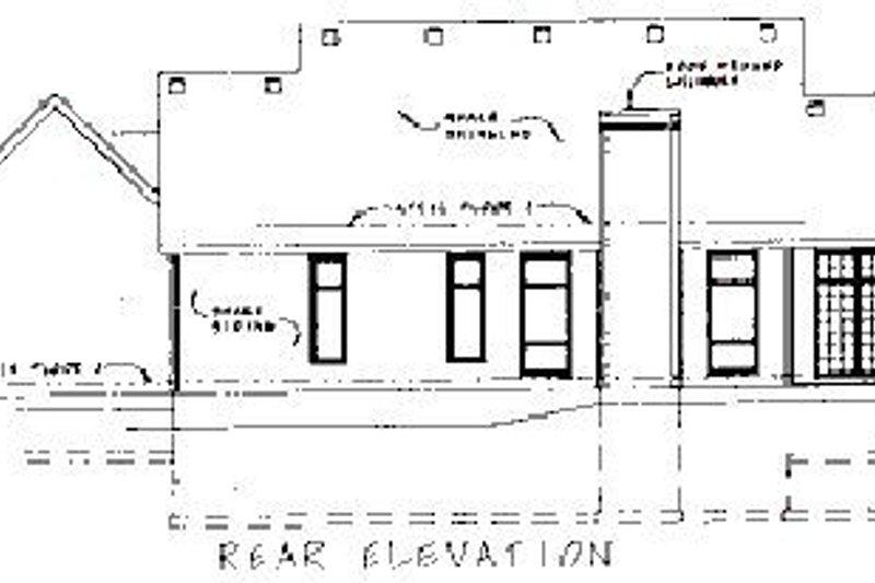Colonial Exterior - Rear Elevation Plan #20-105 - Houseplans.com