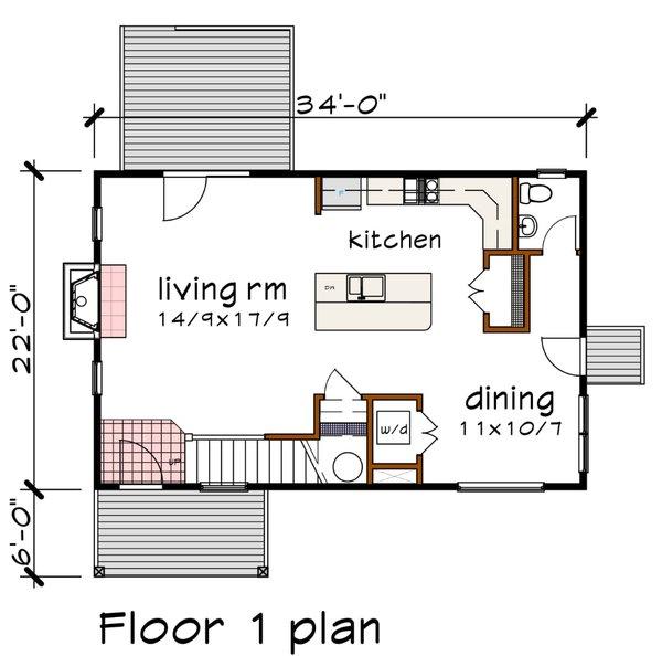 Modern Floor Plan - Main Floor Plan #79-296