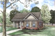 Traditional Style House Plan - 3 Beds 2 Baths 1263 Sq/Ft Plan #17-1100 Exterior - Front Elevation