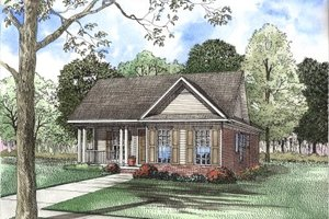 Traditional Exterior - Front Elevation Plan #17-1100