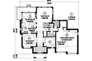 Country Style House Plan - 3 Beds 2 Baths 3212 Sq/Ft Plan #25-4492 Floor Plan - Main Floor Plan