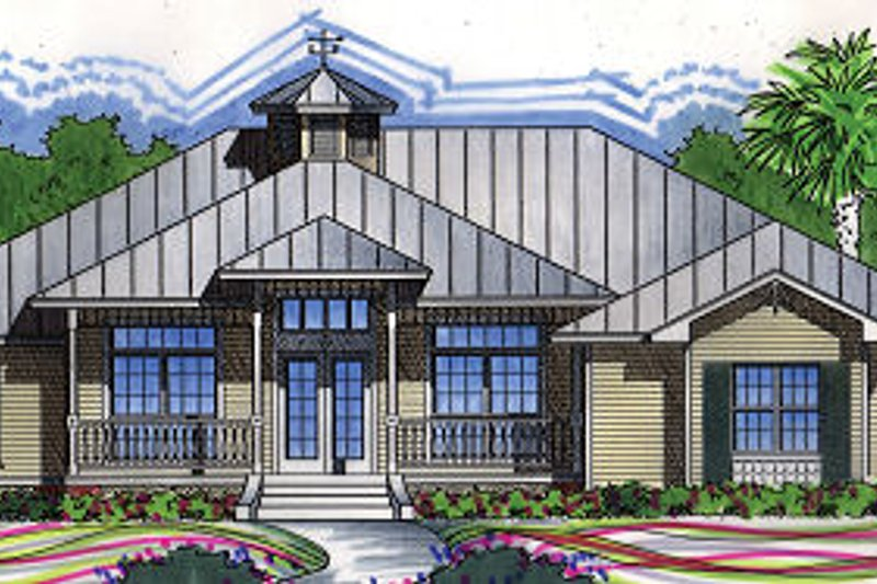 Traditional Style House Plan - 4 Beds 2 Baths 2151 Sq/Ft Plan #417-201 Exterior - Front Elevation