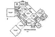 European Style House Plan - 4 Beds 4 Baths 8205 Sq/Ft Plan #81-13914 Floor Plan - Main Floor Plan