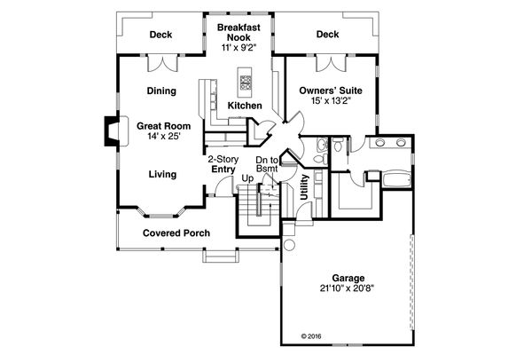 Farmhouse Floor Plan - Main Floor Plan Plan #124-176