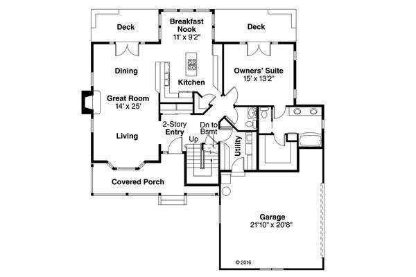 Farmhouse Floor Plan - Main Floor Plan Plan #124-176
