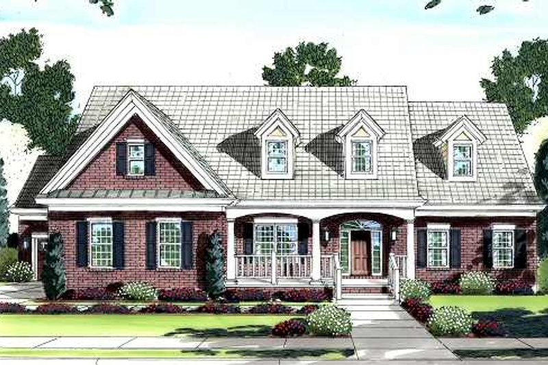 Traditional Exterior - Front Elevation Plan #46-406