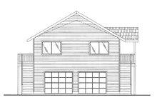 Home Plan - Modern Exterior - Rear Elevation Plan #117-209