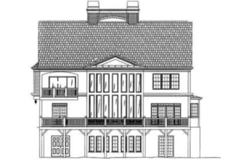Colonial Exterior - Rear Elevation Plan #119-159 - Houseplans.com