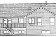 Bungalow Style House Plan - 3 Beds 3 Baths 1351 Sq/Ft Plan #18-9539 Exterior - Rear Elevation