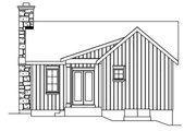 Cottage Style House Plan - 1 Beds 1 Baths 740 Sq/Ft Plan #22-572 Exterior - Rear Elevation