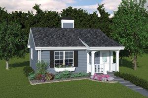 Cottage Exterior - Front Elevation Plan #57-267