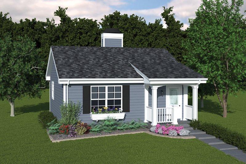 House Plan Design - Cottage Exterior - Front Elevation Plan #57-267