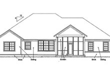 Bungalow Exterior - Rear Elevation Plan #20-1840