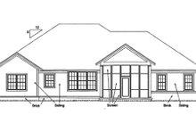 Dream House Plan - Bungalow Exterior - Rear Elevation Plan #20-1840