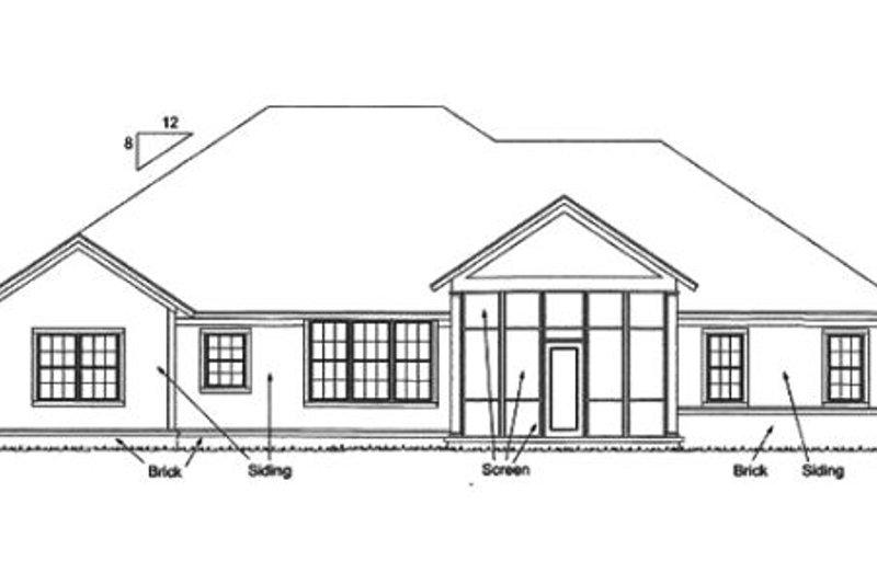 Bungalow Exterior - Rear Elevation Plan #20-1840 - Houseplans.com