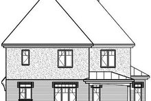 Home Plan - Traditional Exterior - Rear Elevation Plan #23-837