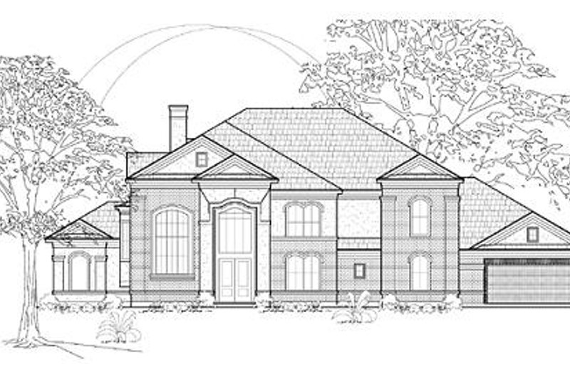 Traditional Exterior - Front Elevation Plan #61-173