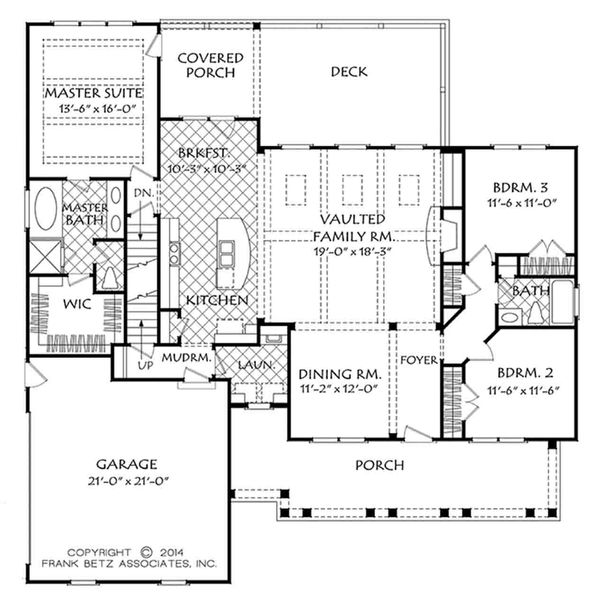 Country Floor Plan - Main Floor Plan Plan #927-17