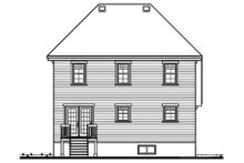 House Design - Traditional Exterior - Rear Elevation Plan #23-212