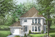 Traditional Style House Plan - 3 Beds 1.5 Baths 1768 Sq/Ft Plan #25-2198 Exterior - Front Elevation