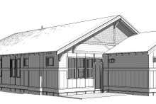 House Plan Design - Right Rear