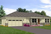 Ranch Style House Plan - 2 Beds 2 Baths 1596 Sq/Ft Plan #116-282 Exterior - Front Elevation