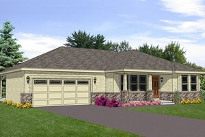 Ranch Exterior - Front Elevation Plan #116-282