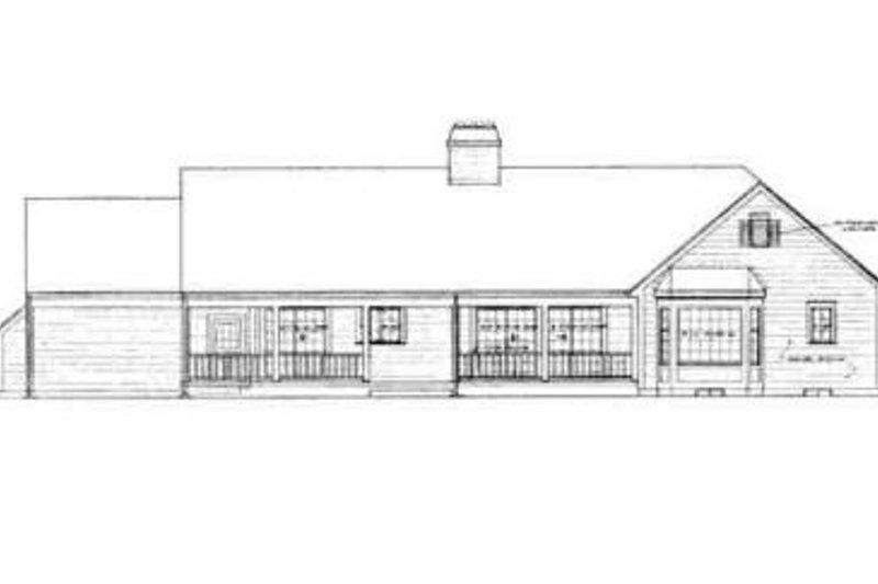 Ranch Exterior - Rear Elevation Plan #72-212 - Houseplans.com