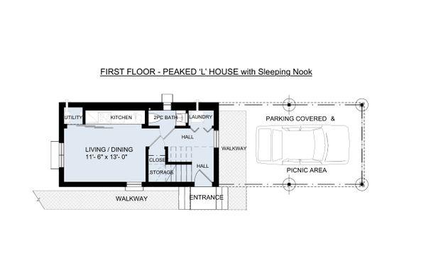 Traditional Floor Plan - Main Floor Plan #905-6