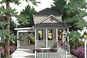 Cottage Exterior - Front Elevation Plan #406-258