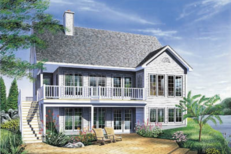 Home Plan - Country Exterior - Front Elevation Plan #23-153