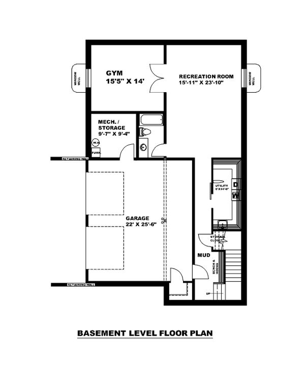 Traditional Floor Plan - Lower Floor Plan #117-912