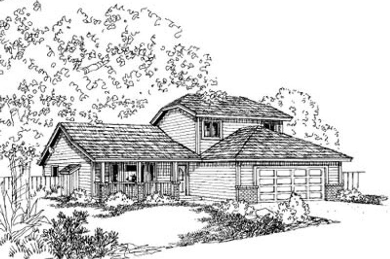 Traditional Exterior - Front Elevation Plan #60-588 - Houseplans.com