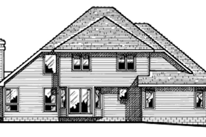 Traditional Exterior - Rear Elevation Plan #20-2009 - Houseplans.com
