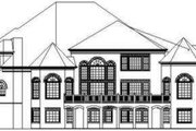 Classical Style House Plan - 4 Beds 5 Baths 4899 Sq/Ft Plan #119-207 Exterior - Rear Elevation