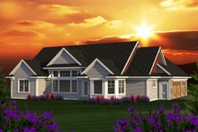Home Plan - Ranch Exterior - Rear Elevation Plan #70-1168