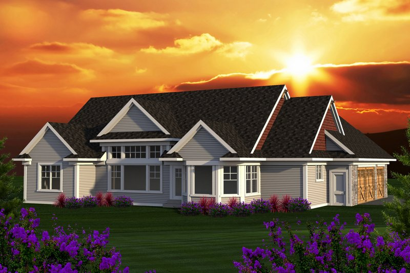 Ranch Exterior - Rear Elevation Plan #70-1168 - Houseplans.com