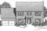 Colonial Style House Plan - 4 Beds 3.5 Baths 2667 Sq/Ft Plan #6-104 Exterior - Front Elevation