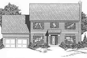 Colonial Exterior - Front Elevation Plan #6-104