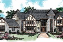 Tudor Exterior - Front Elevation Plan #72-198