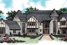 House Blueprint - Tudor Exterior - Front Elevation Plan #72-198