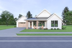 Craftsman Exterior - Front Elevation Plan #1070-90