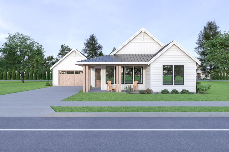 Craftsman Style House Plan - 3 Beds 2 Baths 1677 Sq/Ft Plan #1070-90 Exterior - Front Elevation